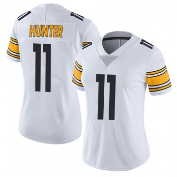 Women's Nike Pittsburgh Steelers Justin Hunter White Vapor Untouchable Jersey - Limited