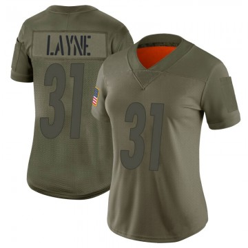 Women's Nike Pittsburgh Steelers Justin Layne Camo 2019 Salute to Service Jersey - Limited