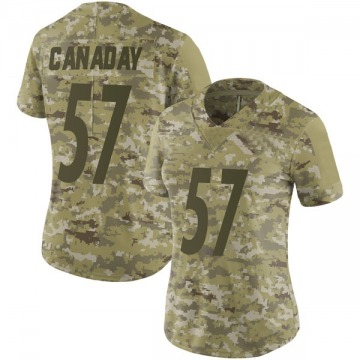 Women's Nike Pittsburgh Steelers Kameron Canaday Camo 2018 Salute to Service Jersey - Limited