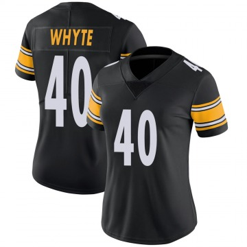 Women's Nike Pittsburgh Steelers Kerrith Whyte Jr. Black 100th Vapor Jersey - Limited