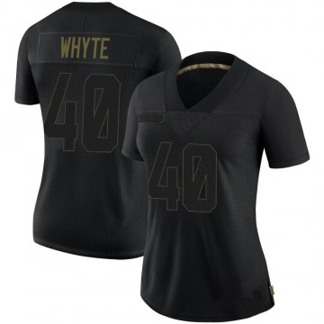 Women's Nike Pittsburgh Steelers Kerrith Whyte Jr. Black 2020 Salute To Service Jersey - Limited