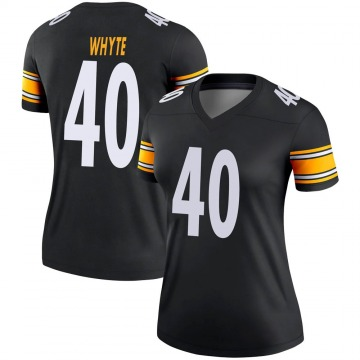 Women's Nike Pittsburgh Steelers Kerrith Whyte Jr. Black Jersey - Legend