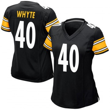 Women's Nike Pittsburgh Steelers Kerrith Whyte Jr. Black Team Color Jersey - Game