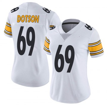 Women's Nike Pittsburgh Steelers Kevin Dotson White Vapor Untouchable Jersey - Limited