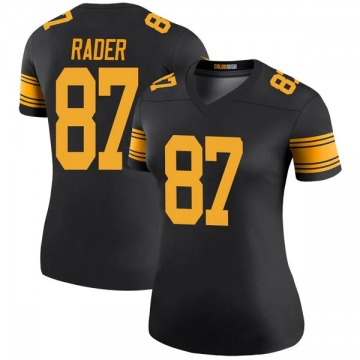 Women's Nike Pittsburgh Steelers Kevin Rader Black Color Rush Jersey - Legend