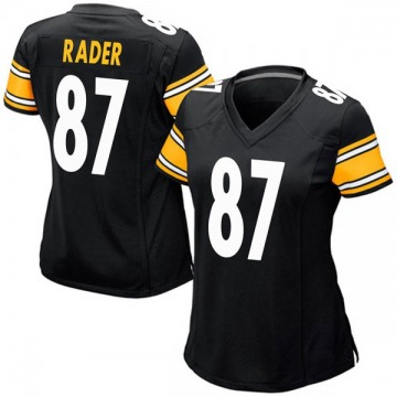 Women's Nike Pittsburgh Steelers Kevin Rader Black Team Color Jersey - Game