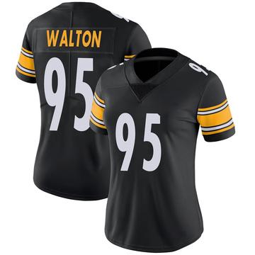 Women's Nike Pittsburgh Steelers L.T. Walton Black 100th Vapor Jersey - Limited