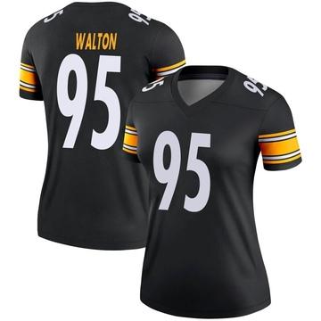 Women's Nike Pittsburgh Steelers L.T. Walton Black Jersey - Legend