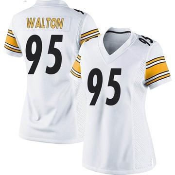 Women's Nike Pittsburgh Steelers L.T. Walton White Jersey - Game