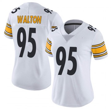 Women's Nike Pittsburgh Steelers L.T. Walton White Vapor Untouchable Jersey - Limited