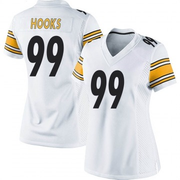 Women's Nike Pittsburgh Steelers Lavon Hooks White Jersey - Game