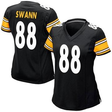 Women's Nike Pittsburgh Steelers Lynn Swann Black Team Color Jersey - Game