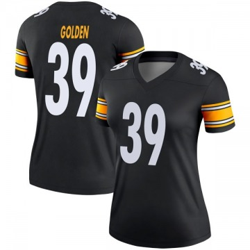 Women's Nike Pittsburgh Steelers Malik Golden Gold Black Jersey - Legend