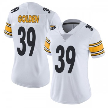 Women's Nike Pittsburgh Steelers Malik Golden Gold White Vapor Untouchable Jersey - Limited