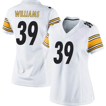 Women's Nike Pittsburgh Steelers Malik Williams White Jersey - Game