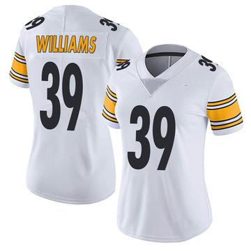 Women's Nike Pittsburgh Steelers Malik Williams White Vapor Untouchable Jersey - Limited