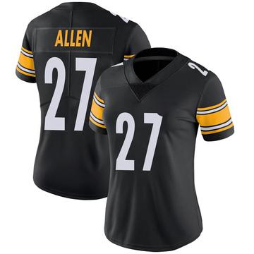 Women's Nike Pittsburgh Steelers Marcus Allen Black 100th Vapor Jersey - Limited