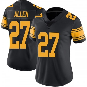 Women's Nike Pittsburgh Steelers Marcus Allen Black Color Rush Jersey - Limited