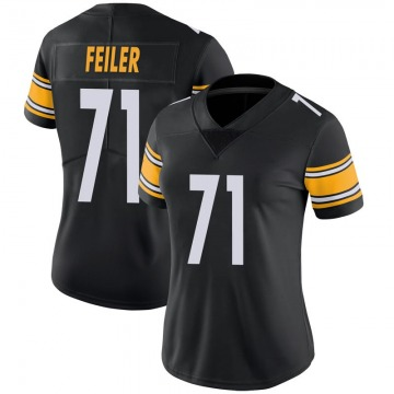 Women's Nike Pittsburgh Steelers Matt Feiler Black 100th Vapor Jersey - Limited
