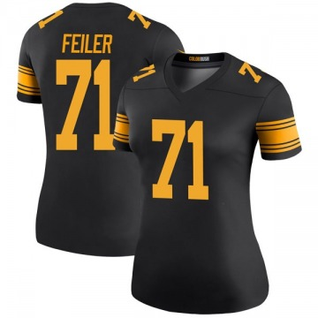 Women's Nike Pittsburgh Steelers Matt Feiler Black Color Rush Jersey - Legend