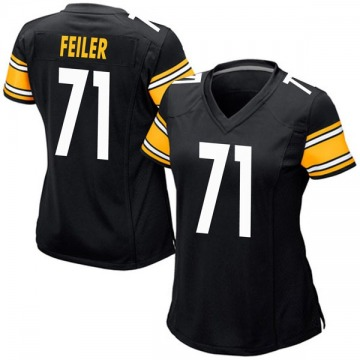 Women's Nike Pittsburgh Steelers Matt Feiler Black Team Color Jersey - Game