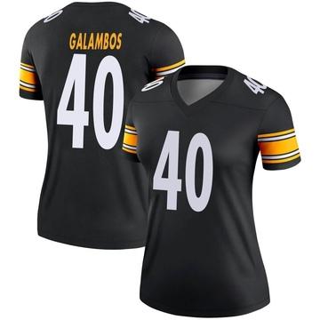 Women's Nike Pittsburgh Steelers Matt Galambos Black Jersey - Legend