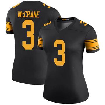 Women's Nike Pittsburgh Steelers Matt McCrane Black Color Rush Jersey - Legend