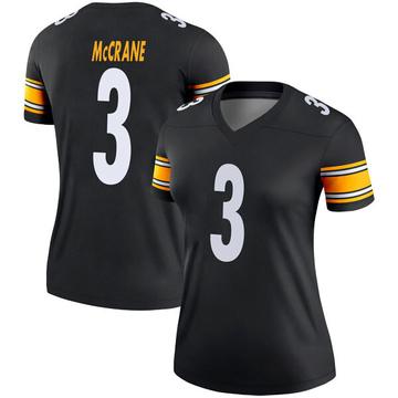 Women's Nike Pittsburgh Steelers Matt McCrane Black Jersey - Legend