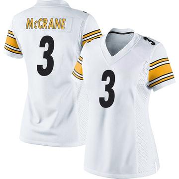 Women's Nike Pittsburgh Steelers Matt McCrane White Jersey - Game