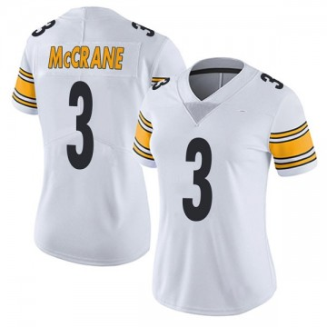 Women's Nike Pittsburgh Steelers Matt McCrane White Vapor Untouchable Jersey - Limited