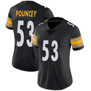 Women's Nike Pittsburgh Steelers Maurkice Pouncey Black 100th Vapor Jersey - Limited