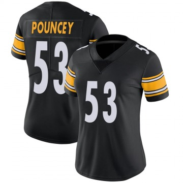 Women's Nike Pittsburgh Steelers Maurkice Pouncey Black Team Color Vapor Untouchable Jersey - Limited