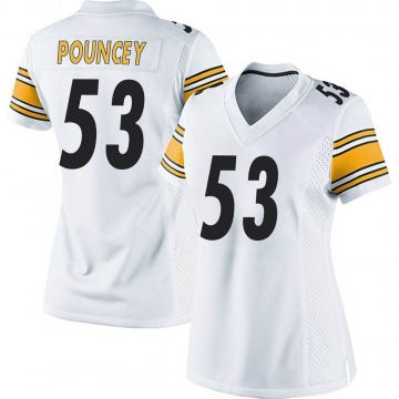 Women's Nike Pittsburgh Steelers Maurkice Pouncey White Jersey - Game