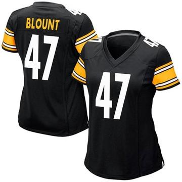 Women's Nike Pittsburgh Steelers Mel Blount Black Team Color Jersey - Game