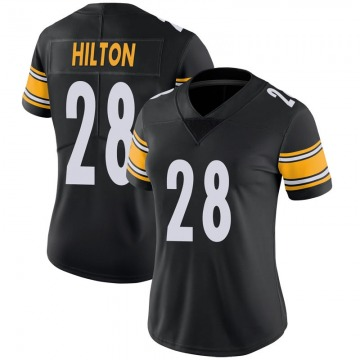 Women's Nike Pittsburgh Steelers Mike Hilton Black 100th Vapor Jersey - Limited