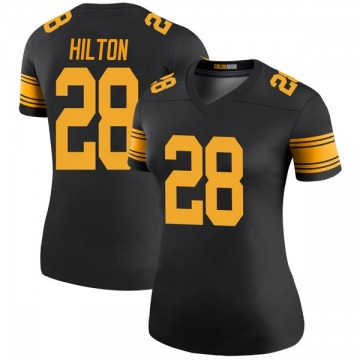 Women's Nike Pittsburgh Steelers Mike Hilton Black Color Rush Jersey - Legend