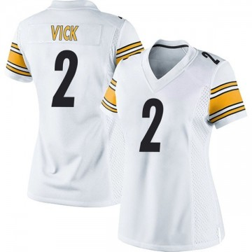Women's Nike Pittsburgh Steelers Mike Vick White Jersey - Game