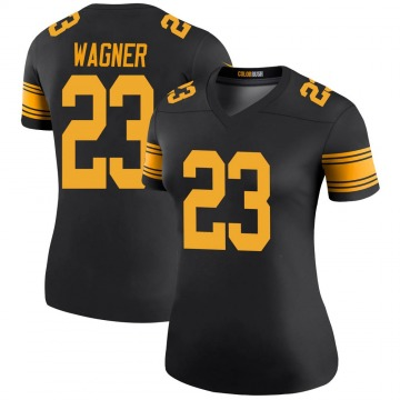 Women's Nike Pittsburgh Steelers Mike Wagner Black Color Rush Jersey - Legend