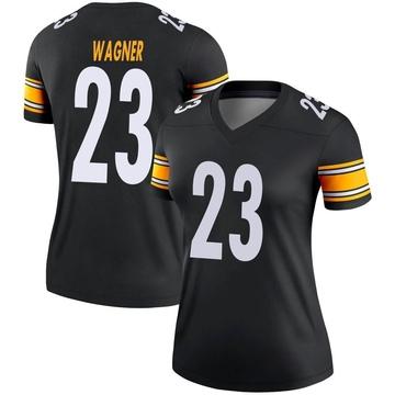 Women's Nike Pittsburgh Steelers Mike Wagner Black Jersey - Legend