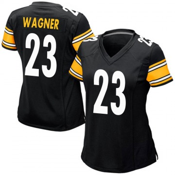 Women's Nike Pittsburgh Steelers Mike Wagner Black Team Color Jersey - Game
