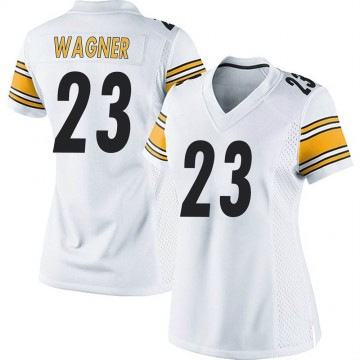 Women's Nike Pittsburgh Steelers Mike Wagner White Jersey - Game