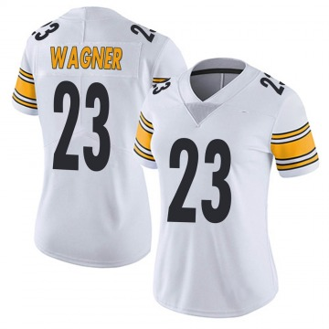 Women's Nike Pittsburgh Steelers Mike Wagner White Vapor Untouchable Jersey - Limited