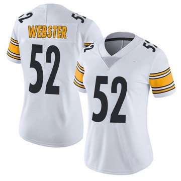 Women's Nike Pittsburgh Steelers Mike Webster White Vapor Untouchable Jersey - Limited