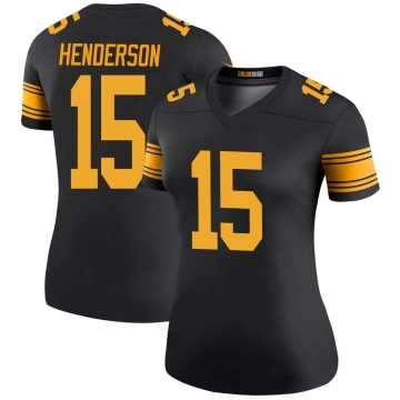 Women's Nike Pittsburgh Steelers Quadree Henderson Black Color Rush Jersey - Legend