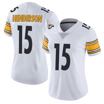 Women's Nike Pittsburgh Steelers Quadree Henderson White Vapor Untouchable Jersey - Limited