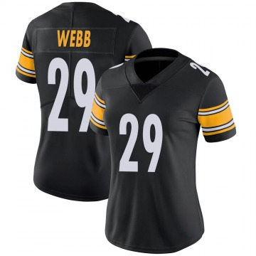 Women's Nike Pittsburgh Steelers Ralph Webb Black 100th Vapor Jersey - Limited