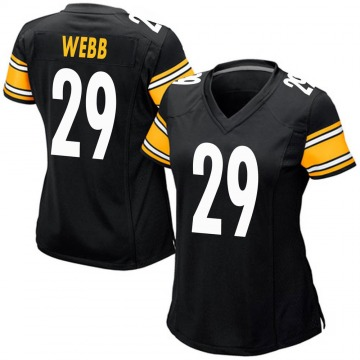 Women's Nike Pittsburgh Steelers Ralph Webb Black Team Color Jersey - Game