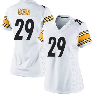 Women's Nike Pittsburgh Steelers Ralph Webb White Jersey - Game