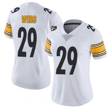 Women's Nike Pittsburgh Steelers Ralph Webb White Vapor Untouchable Jersey - Limited