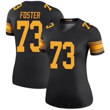Women's Nike Pittsburgh Steelers Ramon Foster Black Color Rush Jersey - Legend